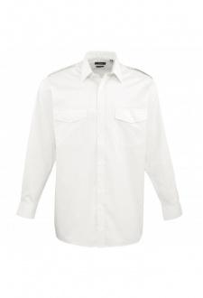 PR210 Long Sleeve Pilot Shirt  (Collar Size 14.5 To 19.5)  2 COLOURS