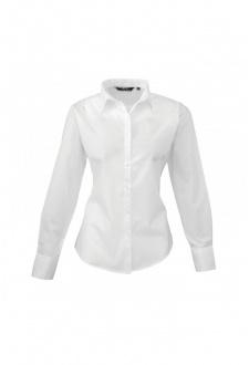 PR300 Ladies Fit  Poplin Long Sleeve Shirt  (Size 8 To 24) 16 COLOURS