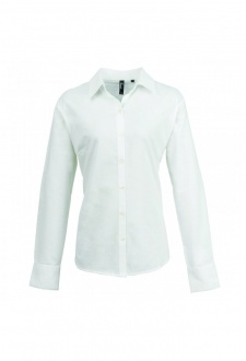 Women's Signature Oxford Long Sleeved Shirt (Size 8 to 24) 3 COLOURS