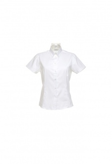 KK701 Womens Corporate Oxford Short Sleeved Blouse (Size 8 To Size 26)  7 COLOURS