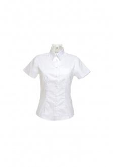 KK719 Womens Corporate Pocket Oxford Short Sleeved Blouse (Size 8 yo Size 20)  2 COLOURS