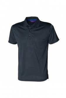 HB473 CoolTouch Textured Stripe Polo (Small to 2XLarge) 3 COLOURS