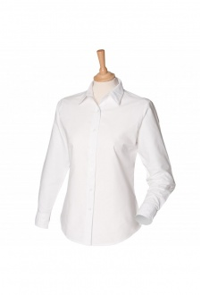 HB511 Womens Long Sleeved Classic Oxford Shirt  (XS To 4XL)  2 COLOURS