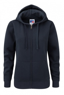 J266F Ladies Fit  medium Weight Zipped Hooded Sweatshirt (Xsmall to Xlarge) 5 COLOURS
