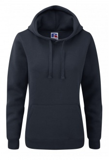 J265F Ladies Fit Medium Weight  Hooded Sweatshirt (Xsmall to Xlarge) 9 COLOURS