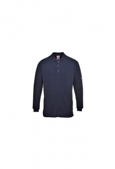 FR10 Flame-Resistant Anti Static Long Sleeved Polo Shirt (Small to 5XLarge)