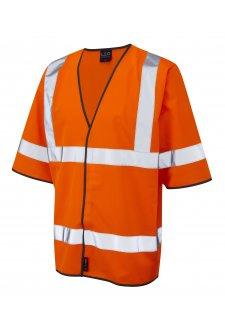S02-O Gorwell Orange Half Sleeve Hi Vis Vests (Small To 4XL)