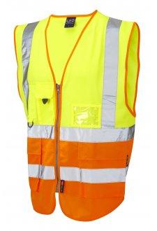 W11-Y/O Lynton Superior Yellow Orange Hi Vis Vests (Small To 6XL)