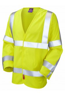 S17-Y LFS Yellow Flame Retardent Anti-Static Hi Vis Long Sleeved Vests (Small To 6XL)