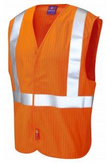W21-O Flame Retardent Anti-Static Railway Hi Vis Vests (Small To 3XL)