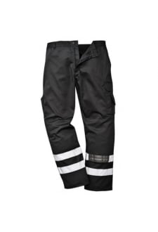 S917BL Iona Safety Combat Trousers Black