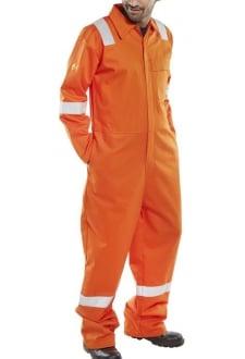 CFRASBBSOR Rugan FR/AS Lightweight Boiler Suit - Orange (SmallTo6XL)