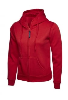 UC505 Ladies Classic Full Zip Hooded SweatShirt (XSmall to 3Xlarge) 11 COLOURS