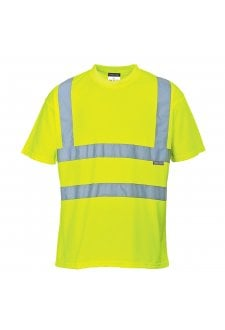 S478Y Hivis T-Shirt (Yellow) (XSmall To 5XL)