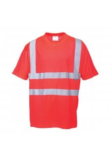 S478R Hivis T-Shirt (Red) (XSmall to 5XL)