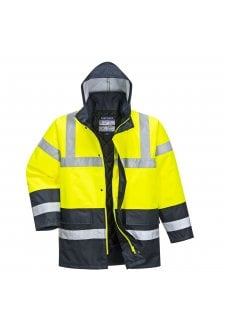 S466 Hi Vis Contrast Traffic Jacket (Xsmall to 6Xlarge) 6 COLOURS