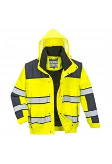 C466 Hi-Vis Classic Bomber Jacket (Small To 4XL) 4 COLOURS