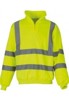 YK031 Hi-Vis 1/4 Zip SweatShirt (Small To 3XL)