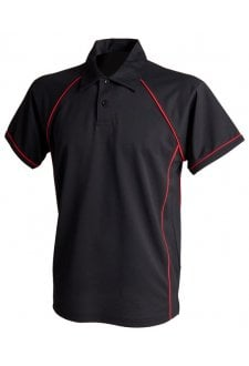 LV370 Piped Performance Polo  (XS to 3XLarge)  11 COLOURS