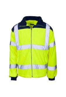 37841 Supertouch Hi Vis Yellow Rain Patch Fleece Jacket (Small to 4XLlarge