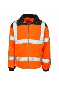 ST37881 Supertouch Hi Vis Orange Rain Patch Fleece Jacket (Small to $XLarge)