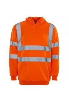 36481 Supertouch Hi Vis Orange Hooded Sweatshirt (Small to 4XLarge)