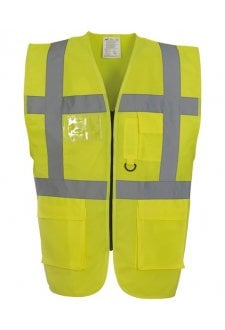 YK002 Multi-Functional Executive Hivis Waistcoat (Small to 3XLarge) 26 COLOURS