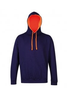 JH013 Contrast Hoodie (Small to 2Xlarge) 5 COLOURS