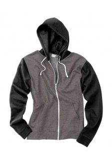 JH059 Two Tone Full Zip Hoodie (XXSmall to 2XLarge) 3 COLOURS