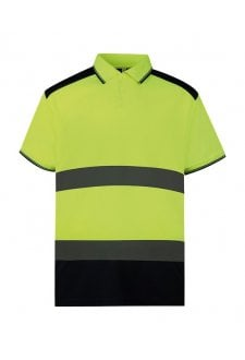 YK104 Hi-vis two-tone polo shirt (Small to 3XLarge)
