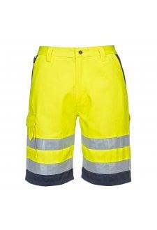 E043 Hi-Vis Poly-Cotton Shorts (Small To 3XL)  3 COLOURS