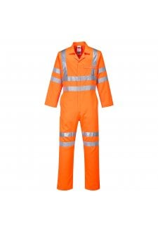 RT42OR Hi-vis Poly-Cotton Coverall GO/RT (SmallTo4XL)