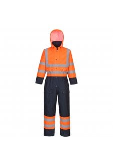 S485 Hi-Vis Contrast Coverall - Lined (Small To 6XL)