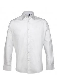 PR207 Supreme Poplin Long Sleeved Shirt  (Collar size 14.5 To 19.0)  3 COLOURS
