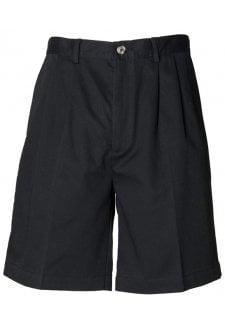 HB605 Teflon Coated Chino Shorts Black