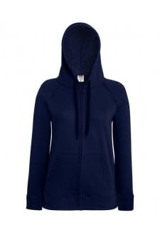 SS912 Ladies Fit  Lightweight Full Zip Hooded Sweat Shirt  (XSmall to 2Xlarge) 11 COLOURS