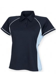 LV371 Womens Piped Performance Polo (Small to 2XLarge) 9 COLOURS