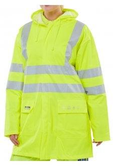 Flame Retardant Hi Vis  Waterproof Jacket - Yellow (Small To 5XL)
