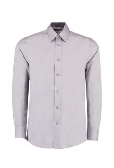 KK189 Contrast Premium Oxford Long Sleeved Shirt  (S To 2XL)  2 COLOURS