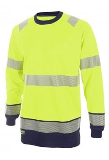 HVTT005 Hi Vis Two Tone Long Sleeved T Shirt (Small to 4XLARGE) 2 COLOURS