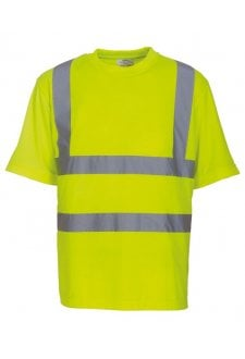 YK025 Hi-Vis Short Sleeved T-Shirt (Small To 3XL) 4 COLOURS