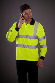 YK021 Hi-Vis Long Sleeved Polo (Small To 3XL)