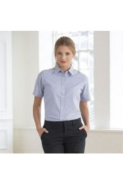 HB516 Womens Short Sleeved Classic Oxford Shirt (XS To 2XL)