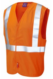 W21-O Flame Retardent Anti-Static Railway Hi Vis Vests (Small To 3XL)