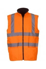 Hi-vis reversible fleece bodywarme (Small to 3Xlarge)
