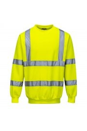 B303 Hi-Visibility Sweatshirt  Rail Spec In Orange (Small To 5XL)