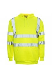 Supertouch Hi Vis Hooded Sweatshirt (Small to 4XLarge)